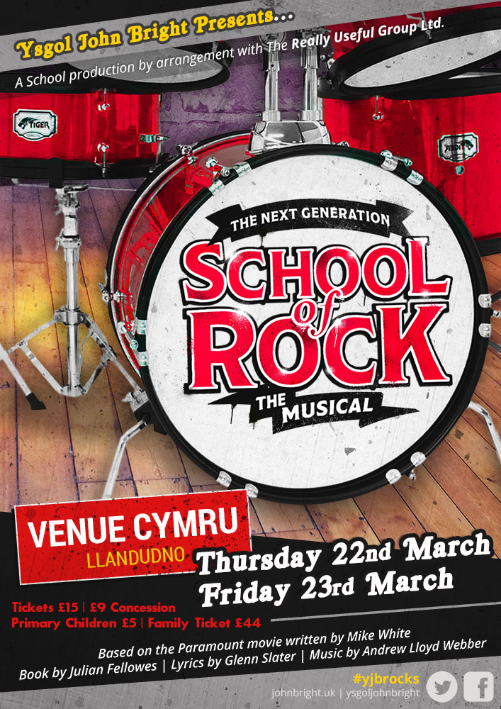 School Of Rock (The Musical) - Ysgol John Bright School Production 2018